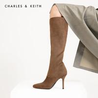 双11预售:CHARLES & KEITH 90280030 女款拉链高跟长靴