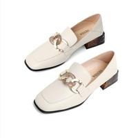 双11预售:SENDA 森达 Z0518CM0D 女士粗跟乐福鞋