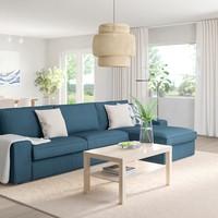 小编精选:IKEA 宜家 奇维四人沙发 带贵妃椅/西拉利德 深蓝色