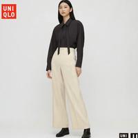 UNIQLO 优衣库 431418 女装斜纹宽腿裤