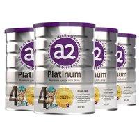 双11预售:a2 Platinum 白金版 婴幼儿奶粉 4段 900g 4罐装