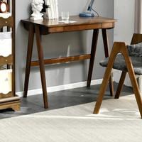 双11预售:JIAYI 家逸 实木书桌电脑桌 胡桃色80cm 单桌