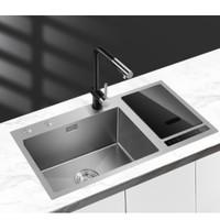 双11预售:MENSARJOR 美仕杰 智能手工水槽 单嵌入净洗机+抽拉龙头