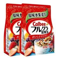 京东PLUS会员:Calbee 乐比进口水果麦片 700g *2件