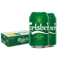 京东PLUS会员、补贴购:Carlsberg 嘉士伯 特醇啤酒 330ml*24听 *2件