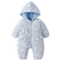 双11预售:goodbaby 好孩子 婴儿A类夹棉保暖连体衣 连帽
