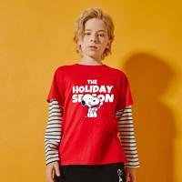 SNOOPY 史努比 儿童纯棉长袖T恤