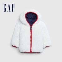 双11预售:Gap 盖璞 婴儿两面穿仿羊羔绒外套
