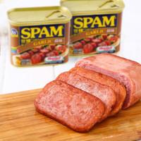有券的上:SPAM 世棒 午餐肉蒜味 340g *9件