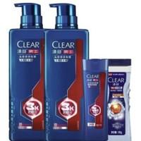 CLEAR 清扬 男士头皮劲能瓶净屑型洗发水 570g*2 +赠旅行装100g*2