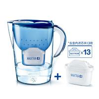 双11预售:BRITA 碧然德 Marella系列 滤水壶 1壶13芯 蓝色 3.5L *2套