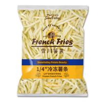 京东PLUS会员:Snow Valley 雪川食品 薯美冷冻薯条 1/4细薯 500g *15件