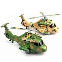 KIDNOAM 拉线拉线飞机直升机迷彩系列 2只装