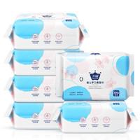 子初 婴儿手口柔湿巾 100抽*6包 +凑单品