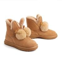 双11预售:BeLLE 百丽 V9C1DDD0 女士羊毛保暖雪地靴