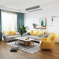 双11预售:ZOUYOU 左右 6020 轻奢布艺沙发 单人位+双人位+三人位