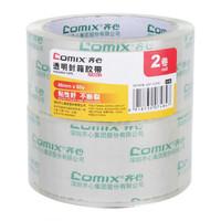 齐心(COMIX)6卷装打包封箱宽胶带封口胶布4.5/4.8/5.5/6cm封箱胶带 办公文具 JT4806-2 48mm*60Y 2卷装