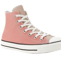 Converse匡威 Chuck Taylor All Star Hi-Top 女士高帮帆布鞋 蜜桃粉色