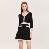 双11预售:Five Plus 5+ 2RN3086850 女秋装V领针织连衣裙