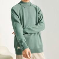 双11预售:A21 R404143009 男装半高领纯色长袖针织衫