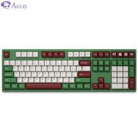 新品发售:AKKO 艾酷 3008DS 红豆抹茶 108键 机械键盘 AKKO蓝轴