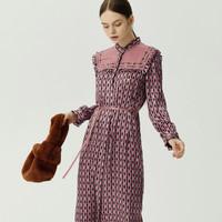 双11预售:LILY 120409C7909116 玩具熊印花连衣裙