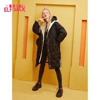 双11预售:elf sack 1941_AL5100A 女士连帽羽绒服长款