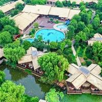 双11预售:一房一私汤!扬州凤凰岛逸扬温泉度假村落 80平米温泉私汤套房1-2晚