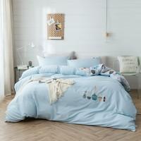 双11预售:LOVO 乐蜗家纺 40s全棉斜纹三件套 1.2m床