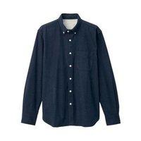 MUJI  无印良品 M9AC766 男式新疆棉法兰绒衬衫