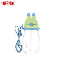 THERMOS 膳魔师 可爱兔子造型便携肩带吸管杯 蓝绿色 450ml *2件 +凑单品