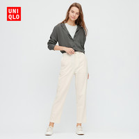 UNIQLO 优衣库 424941 女款麻棉窄口裤