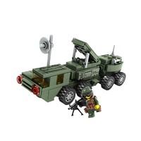 KAZI 开智  拼装消防巡警工程组装 指导照射雷达车 118PCS