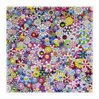 1日0点、限量版画:世界潮流艺术家村上隆 正版版画《太阳花》限量 丝网版画 100版