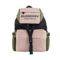 1日0点、考拉海购黑卡会员:BURBERRY 博柏利 8010502 女士Logo印花三色尼龙背包