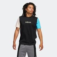 1日0点:adidas Color Block Tee GP4021 男装篮球运动短袖T恤