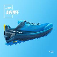 20年ALTRA新款Olympus4.0 越野跑步鞋男女缓震跑鞋专业防滑徒步鞋跑步鞋 男款-蓝色/黄色 44