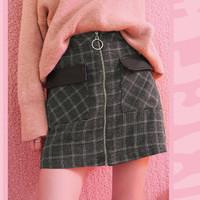 双11预售:妖精的口袋 19417103A 女款格子裙