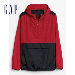 Gap男装简约半开领连帽外套秋冬544697 E 2020新款帅气拉链上衣