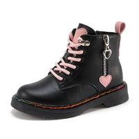 双11预售:Barbie 芭比 女童加绒短靴