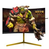 双11预售:AOC 冠捷  AG273QCXWS 魔兽世界定制 27英寸显示器(2560*1440、144HZ、1800R、sRGB≥122%)