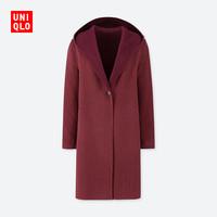 UNIQLO 优衣库 420227 女款双面呢连帽大衣