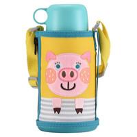 双11预售:虎牌 TIGER MBR-T06G-YP 儿童杯不锈钢保温杯 小猪 600ML
