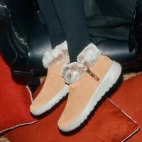 双11预售:SkSKECHERS 斯凯奇 144003 女士加绒反毛皮雪地靴