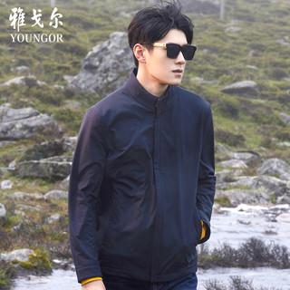 雅戈尔夹克秋冬新款男士官方中青年商务休闲时尚潮流立领外套9621