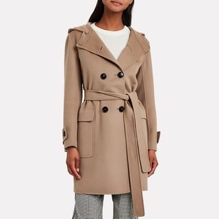 MaxMara Duffle 女士双排扣连帽羊毛大衣