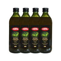 双11预售:ABRIL 特级初榨橄榄油食用油 1L*4瓶