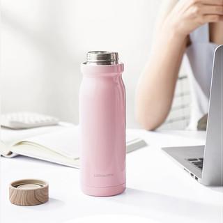 乐扣乐扣牛奶保温杯邓伦同款316不锈钢水杯女便携水杯男女