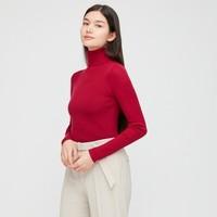 1日0点:UNIQLO 优衣库 428860 女装 100%美利奴绵羊毛针织衫