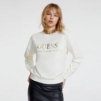双11预售:GUESS 盖尔斯 W93I0MR54Z4 女士纯色字母LOGO圆领卫衣